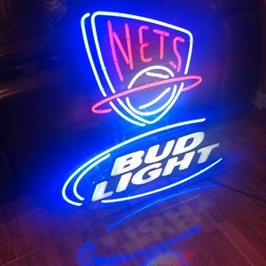 New York Nets/Bud Light Bar Light